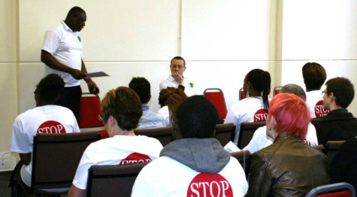 hiv-event-conference-dumi-speaking